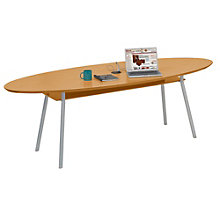 "Mystic Elliptical Conference Table with Data Port - 96"" x 42"", LES-S1896K4P"