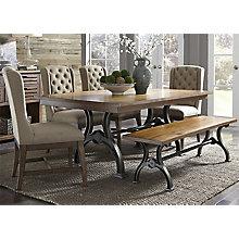 6 Pc Trestle Table Set , 8810763
