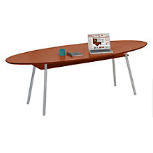 "Mystic Elliptical Conference Table with Shelf  - 96"" x 42"", LES-S1896K4"