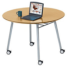 "Mystic 48"" Round Table with Casters, LES-S1948Q4"