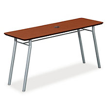 "Mystic Utility Table with Data Port - 60"" x 20"", LES-S1160R4P"