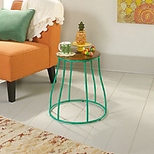 Eden Rue Metal Base Round Side Table, 8807653