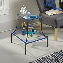 Eden Rue Glass Shelf Side Table, 8807656