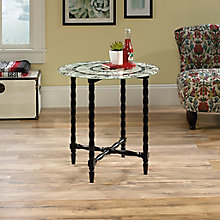 Viabella Printed Glass Accent Table , 8813391