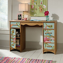"Patterned Double Pedestal Compact Desk - 46""W, 8807668"