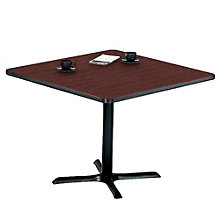 "Breakroom Table with X-Base - 36"" Square, PHX-LR3636WCX"