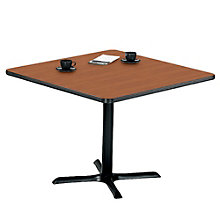 "Breakroom Table with X-Base - 42"" Square, PHX-LR4242WCX"