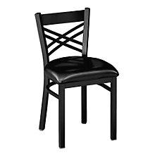 Cross-Back Break Room Chair, PHX-230BK
