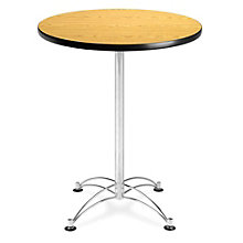 "Round Cafe Table Chrome Base - 30"", OFM-CCLT30RD"