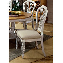 Wilshire Wood Guest Chair with Fabric Seat, 8803932