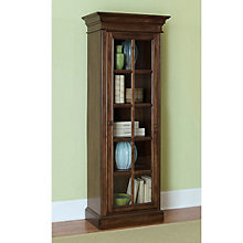 """Pine Island Five Shelf One Door Bookcase - 75""""H, 8803902"""