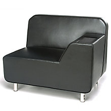 Serenity Polyurethane Left Arm Lounge Chair with Inlay Table, 8814096