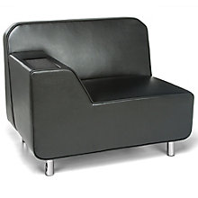 Serenity Polyurethane Right Arm Lounge Chair with Inlay Table, 8814098
