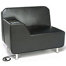 Serenity Polyurethane Right Arm Lounge Chair with Electrical Outlet, 8814099