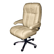 Plush Big and Tall Office Chair in Fabric or Faux Leather , 8810175
