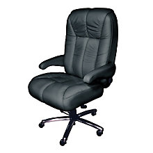 Plush Big and Tall Office Chair in Fabric or Faux Leather , 8810178