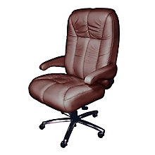 Newport Big and Tall Genuine and Faux Leather Office Chair, 8810176