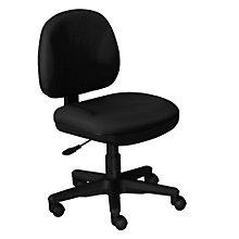 Armless Fabric Task Chair, OFF-8120