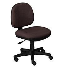 Beau Armless Fabric Task Chair, OFF 8120