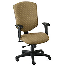 High Back Fabric Ergonomic Computer Chair - Assembled, OFF-41572A