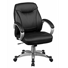 Mid Back Faux Leather Executive Chair, OFF-10352