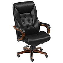Kingston Traditional Big and Tall Tufted Leather Executive Chair, TRU-4200