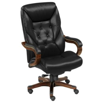 Kingston Traditional And Tall Tufted Leather Executive Chair Tru 4200