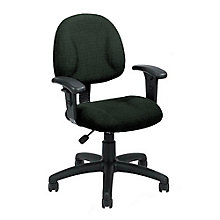 Tweed Fabric Task Chair with Arms, 8828534