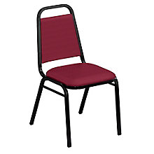 "Square Back Fabric Stack Chair with 1-1/2"" Seat, 8822466"