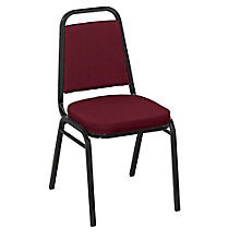 "Square Back Fabric Stack Chair with 2"" Seat, 8822480"