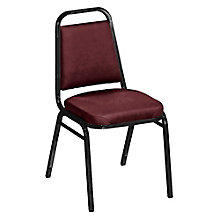 "Square Back Vinyl Stack Chair with 2"" Seat, 8822491"