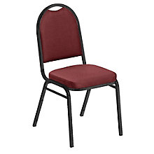 "Round Back Fabric Stack Chair with 2"" Seat, 8822463"