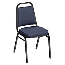 """Square Back Patterned Fabric Stack Chair with 2""""Seat, 8822484"""