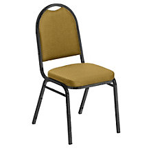 """Round Back Patterned Fabric Stack Chair with 2"""" Seat, 8822462"""