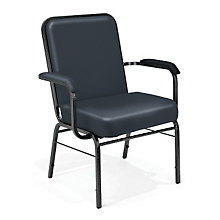Big and Tall Vinyl Stack Chair with Arms, OFM-300-VXL