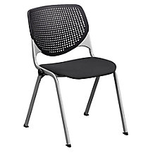 Heavy Duty Poly Back and Vinyl or Fabric Seat Stack Chair - 400 lb Capacity, 8813873