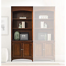 "Latitude 80.5""H 3 Shelf Contemporary Bookcase with Doors, 8814421"