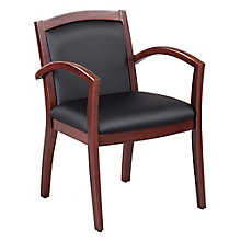 Expressions Full Back Faux Leather Wood Frame Chair, 8804285