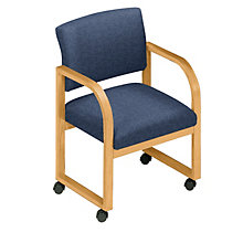 Fabric Upholstered Conference Chair with Arms, 8813601