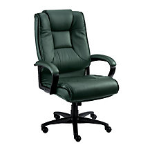Work Smart Tufted Leather Executive Chair, 8827871
