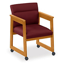 Classic Tapered Arm Guest Chair with Casters, 8813689