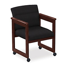 Classic Extended Arm Guest Chair with Casters, 8813693