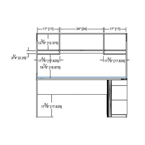 Interior hutch dimensions