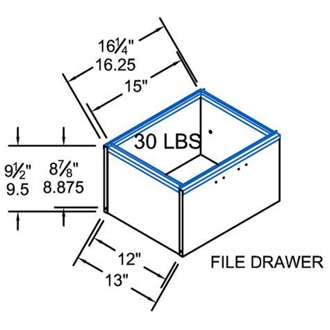 Interior file drawer dimensions