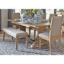 6 Pc Trestle Table Set , 8809922