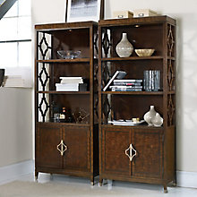 "Skyline Set of Two Bunching Bookcase with Cut-Away Sides - 80""H, 8814489"