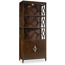 """Skyline Bunching Bookcase with Cut-Away Sides - 80""""H, 8814432"""