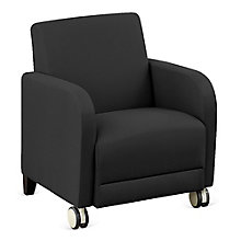 "Fabric Guest Chair with Casters - 27""W, 8814245"