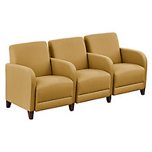 "Three Seater with Center Arms in Fabric - 75.5""W, 8814250"