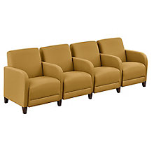 "Four Seater with Center Arms in Fabric - 99.5""W, 8814251"